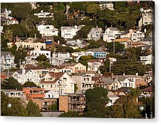 High Angle View Of Houses In A Town Acrylic Print by Panoramic Images