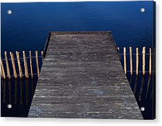 High Angle View Of Jetty Over Lake Acrylic Print by Paulien Tabak / EyeEm
