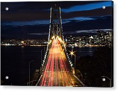 High Angle View Of Light Trails Acrylic Print by Lars Krafft / Eyeem