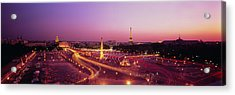 High Angle View Of Paris At Dusk Acrylic Print by Panoramic Images