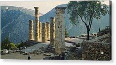 High Angle View Of Ruined Columns Acrylic Print