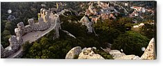 High Angle View Of Ruins Of A Castle Acrylic Print by Panoramic Images