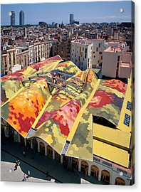 High Angle View Of Santa Caterina Acrylic Print by Panoramic Images