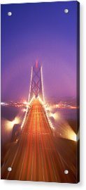 High Angle View Of Suspension Bridge Acrylic Print