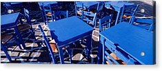High Angle View Of Tables And Chairs Acrylic Print by Panoramic Images