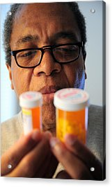 High Blood Pressure Pills. Acrylic Print by Oscar Williams
