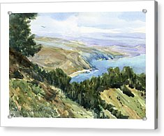 High Coastal View Acrylic Print