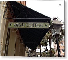 High Cotton Acrylic Print
