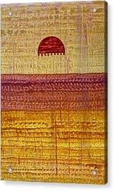 High Desert Horizon Original Painting Acrylic Print by Sol Luckman