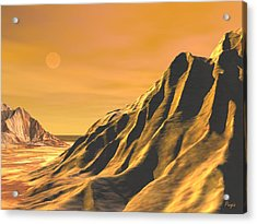 Acrylic Print featuring the digital art High Desert by John Pangia