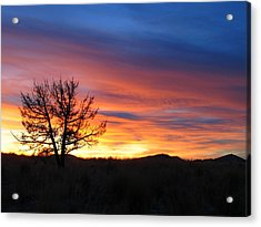 Acrylic Print featuring the photograph High Desert Sunset by Kevin Desrosiers