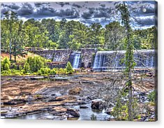 High Falls Dam Acrylic Print by Donald Williams