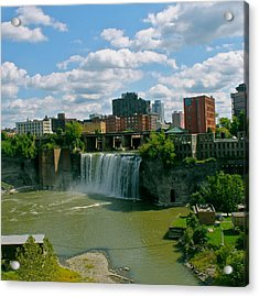 High Falls Rochester  Acrylic Print by Justin Connor