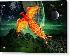 High Flying Phoenix Acrylic Print