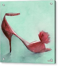 High Heel Red Shoes Painting Acrylic Print