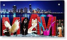 High Heels Miami Acrylic Print
