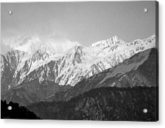 High Himalayas - Black And White Acrylic Print by Kim Bemis