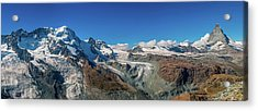 High Mountains Of Pennine Alps In Acrylic Print