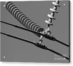 Acrylic Print featuring the photograph High Power Line - 4 by Kenny Glotfelty