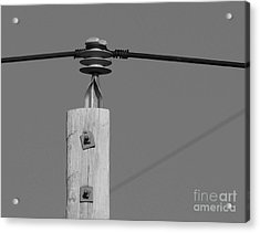 Acrylic Print featuring the photograph High Power Line - 6 by Kenny Glotfelty