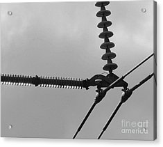 Acrylic Print featuring the photograph High Power Lines - 2 by Kenny Glotfelty