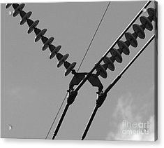 Acrylic Print featuring the photograph High Power Lines - 3 by Kenny Glotfelty