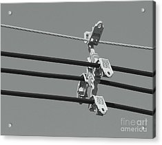 Acrylic Print featuring the photograph High Power Lines - 9 by Kenny Glotfelty