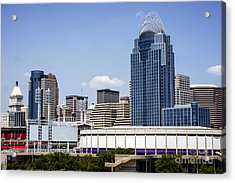 High Resolution Photo Of Cincinnati Skyline Acrylic Print by Paul Velgos