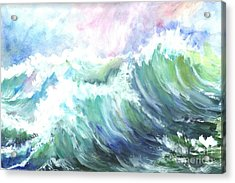 High Seas Acrylic Print by Carol Wisniewski