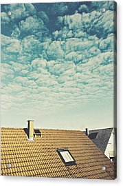 High Section Of Roof Tiles Acrylic Print by Thomas M. Scheer / Eyeem