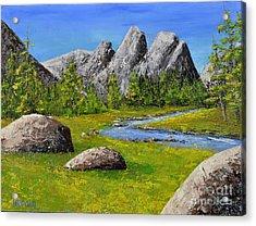 High Sierra Stream Acrylic Print