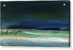 High Tide- Abstract Beachscape Painting Acrylic Print