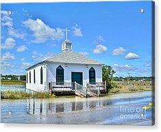 High Tide At Pawleys Island Church Acrylic Print by Kathy Baccari