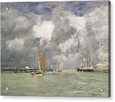 High Tide At Trouville Acrylic Print by Eugene Louis Boudin