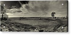 High Tide Of The Confederacy Black And White Acrylic Print by Joshua House