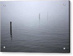 High Tide Sentinels Acrylic Print by Stephen Prestek
