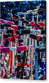High Time To Buy A Scooter 1 Vertical Acrylic Print by Alexander Senin