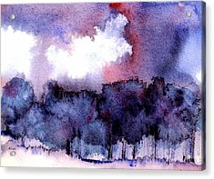 Acrylic Print featuring the painting High Valley Weather by Anne Duke