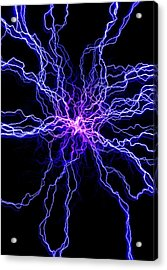 High Voltage Discharge Acrylic Print by David Parker