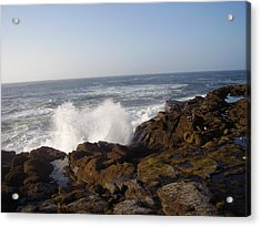 High Wave At The Oregon Coast Acrylic Print by Yvette Pichette