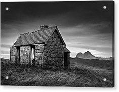 Highland Cottage 1 Acrylic Print by Dave Bowman