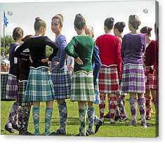 Highland Dancers Scotland Acrylic Print by Sally Ross