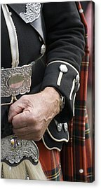 Acrylic Print featuring the photograph Highland Scottish Soldier by Sally Ross