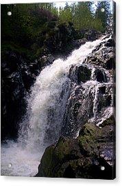 Highland Waterfall Acrylic Print by R McLellan