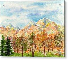 Highlands Autumn Acrylic Print