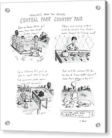 Highlights From The Annual Central Park Country Acrylic Print by Roz Chast