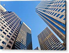 Acrylic Print featuring the photograph Highrises by Jonathan Nguyen