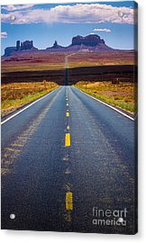 Highway 163 Acrylic Print by Inge Johnsson
