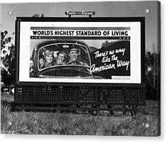 Highway Billboard, 1937 Acrylic Print