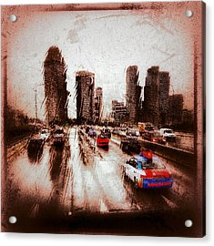 Acrylic Print featuring the photograph Highway City by Yen